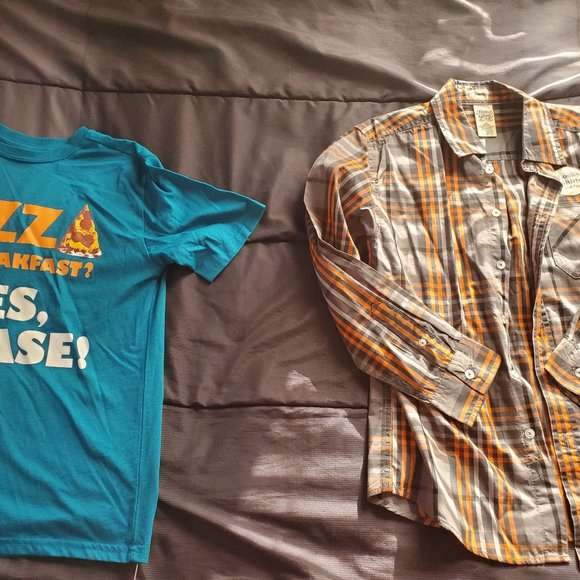 NWT youth large 2pc shirt set